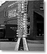 Sign Post In Crossville Tennessee 1939 Metal Print