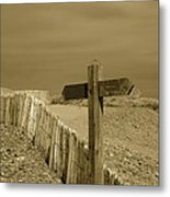 Sign Post To Nowhere 2 Metal Print