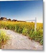 Signpost On Path Metal Print