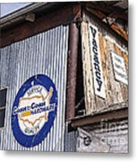Signs In Old Cottonwood Metal Print