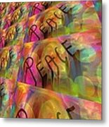 Signs Of Peace X Metal Print