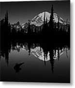 Sihlouette With Tipsoo Metal Print by Mark Kiver