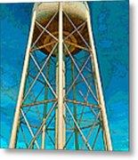Sikeston Water Tower Iv Metal Print
