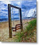 Silence Of The Waves Metal Print by Cary Shapiro