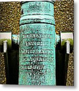 Silenced -- Surrendered British Cannon Metal Print
