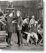 Silent Film Still: Cowboys Metal Print