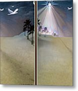 Silent Night - Gently Cross Your Eyes And Focus On The Middle Image Metal Print