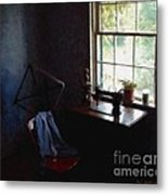 Silent Sewing Room Metal Print