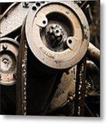 Silent Spinning Metal Print