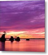Siletz Bay And The Three Brothers Metal Print