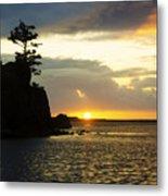Siletz Bay Sunset Oregon 1 Metal Print