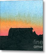 Silhouette Farmstead Metal Print