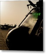 Silhouette Of Hellenic Air Force Search Metal Print