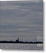 Silhouette Of Isle Royale Lighthouse Isle Royale National Park Metal Print by Jason O Watson
