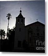 Silhouette Of Mission Santa Clara Metal Print