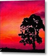Silhouette Sunset H A Metal Print