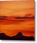 Silhouettes Of Alps Metal Print