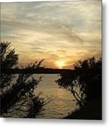 Silhouettes Of Sunset Metal Print