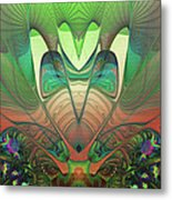 Silk Fan - Abstract  Metal Print