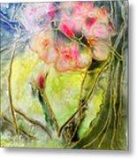 Silky Almond Flower Metal Print