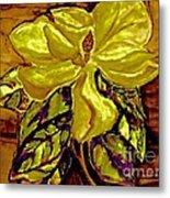 Silky Magnolia Metal Print
