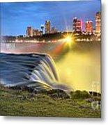 Silky Niagara Falls Panoramic Sunset Metal Print