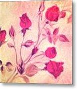 Silky Red Roses Metal Print