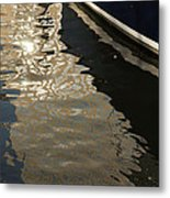 Silky Swirls And Zigzags - A Waterfront Abstract Metal Print