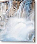Silky Waterfall Splash Metal Print