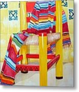 Silla De La Cocina--kitchen Chair Metal Print