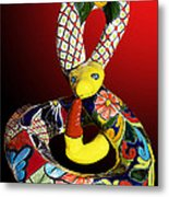 Silly Snake Metal Print