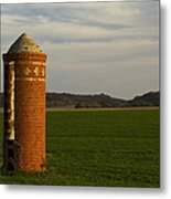 Silo Old Brick 3 Metal Print