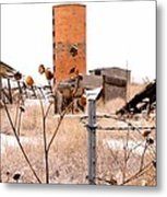 Silo's Frost Metal Print by John Grace