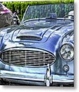 Silver 1963 Austin Healey Roadster 3000 Metal Print