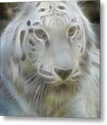 Silver-7988-fractal Metal Print