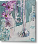 Silver And Glass Music Metal Print