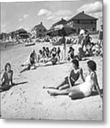 Silver Beach On Cape Cod Metal Print
