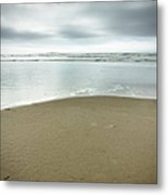 Silver Blue Sea Metal Print