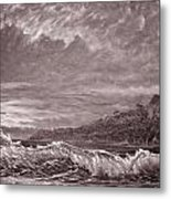 Silver Channel - Study Metal Print