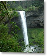Silver Falls 1 In Oregon Metal Print