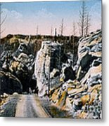 Silver Gate Road Yellowstone Np Metal Print