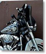 Silver Harley Motorcycle Metal Print