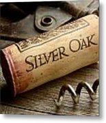 Silver On Silver Metal Print