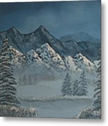 Silver Pine Valley Metal Print