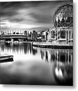 Silver-plated Vancouver Metal Print