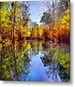 Silver River Colors Metal Print by Christine Till