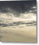 Silver Sky Metal Print