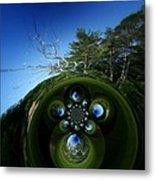 Silver Trees And Skies Of Blue Metal Print