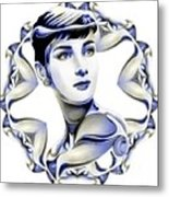 Silverscreenstar Audrey Hepburn Metal Print