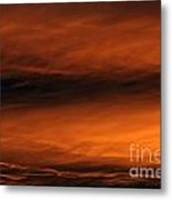 Simmering Golden Clouds Metal Print